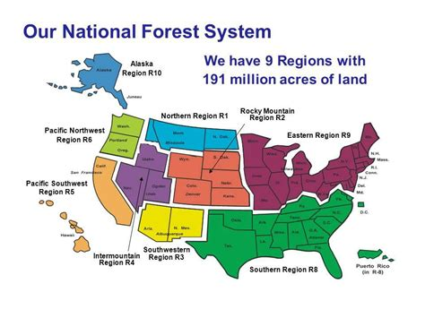 forest service region map forest service forest service regions map