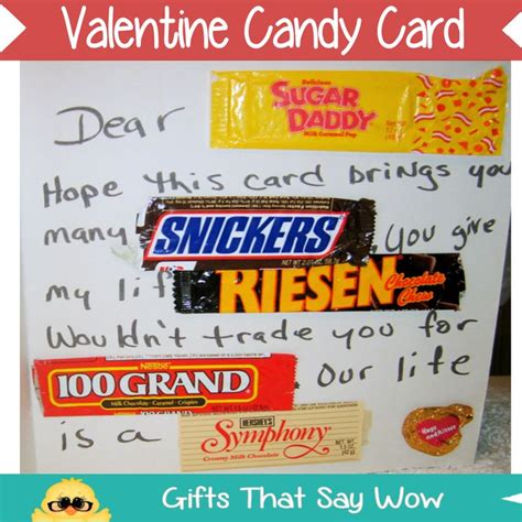 gifts that say wow fun crafts and gift ideas 15 best images about candy cards on pinterest boyfriends