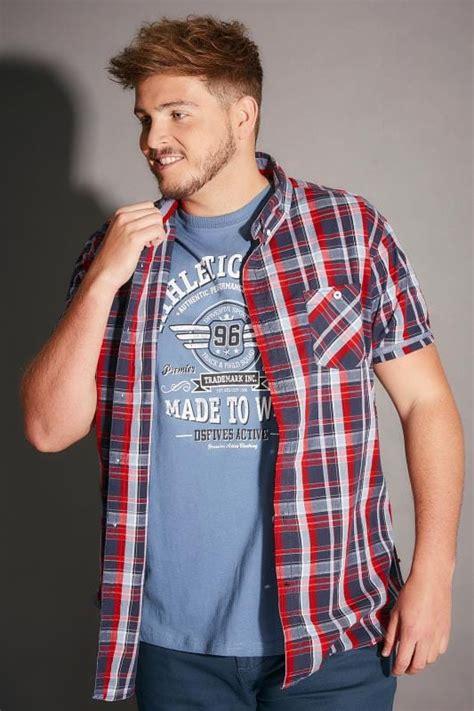 adella combo shirt b l f d555 navy check 2 in 1 shirt t shirt combo size l