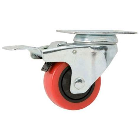 everbilt 3 in polyurethane swivel caster with brake