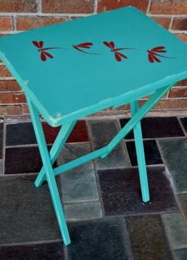 hand painted folding tv tray table  sale  east