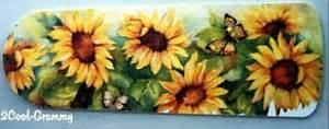 sunflower butterfly ceiling fan blades set 4 low voc for