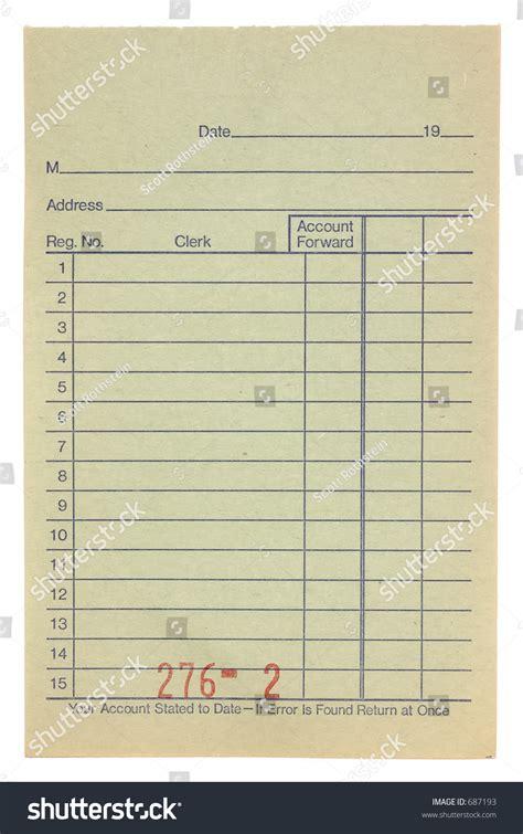 cashiers check receipt template blank cashiers receipt stock photo 687193