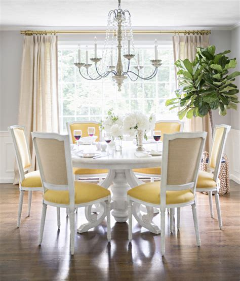 yellow dining room yellow and gray dining room transitional dining room