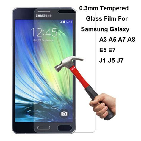Samsung Galaxy E7 Tempered Glass Protection Screen 0 2010 2 5d 9h explosion proof premium real tempered glass screen protector guard for samsung