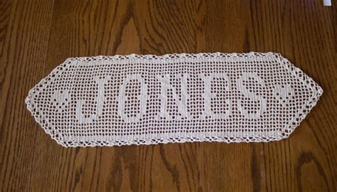 pattern for crochet name doilies crochet name doily filet crocheted name personalized doily