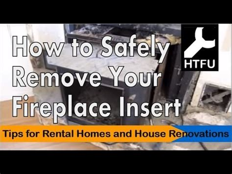 remove gas fireplace insert fireplace insert how to carefully remove a heavy