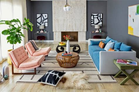 Midcentury Living Room by Midcentury But Not Kitschy A Living Room Update Wsj