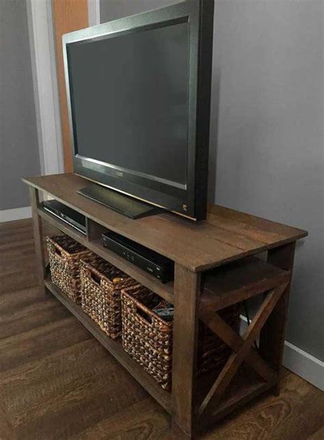 ideas tv stands  storage baskets tv stand ideas