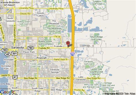 where is sarasota florida located on the map map of americinn of sarasota fl sarasota