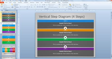 step by step process template free steps diagram for powerpoint
