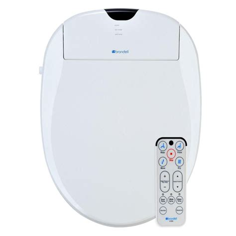 Heated Toilet Seat Bidet by Brondell White Elongated Heated Bidet Toilet Seat S1000