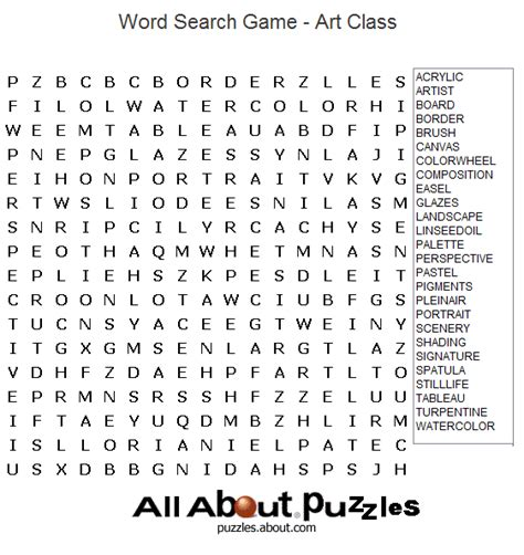 printable art crossword puzzles mrs berenice s art room finished early