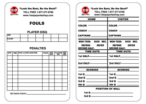 soccer referee score card template football referee card template best templates ideas