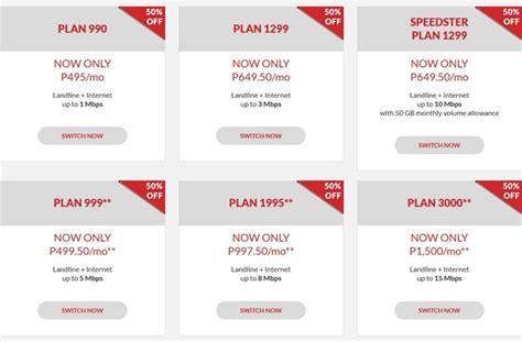 pldt home dsl 50 on all plans save as much as php1