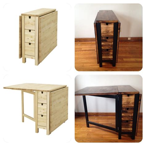 Gateleg Table With Chair Storage » Home Design 2017