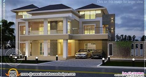 villa at night view kerala home design and floor plans modern villa night view elevation kerala home design and