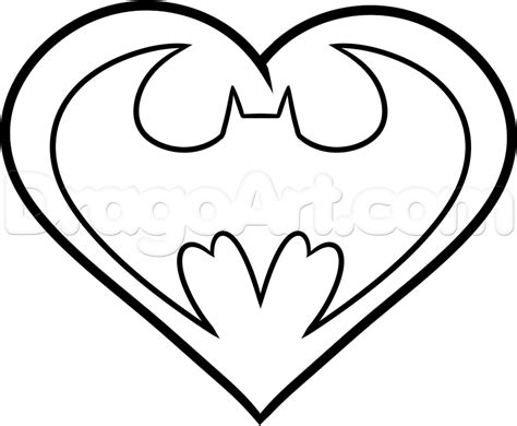 Drawing Hearts by How To Draw A Batman Step By Step Dc Comics