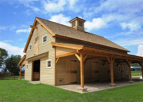 Barn Homes Plans | sasila post and beam horse barn plans