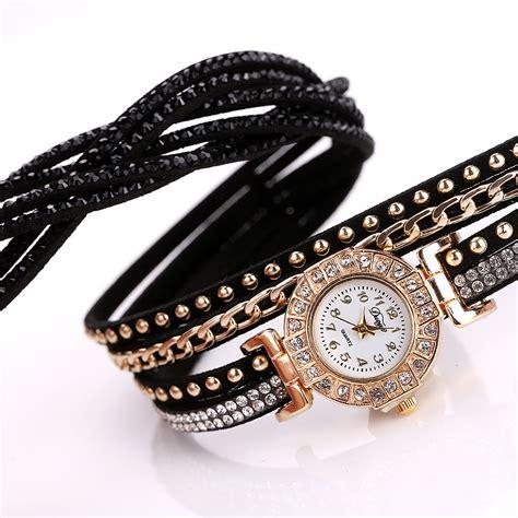 Jam Tangan Wanita Rolex Cosmo Gold Color Fashion jam tangan wanita model gelang rhinestone dy001 white