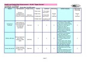 Post Event Report Template dlgc risk assessments