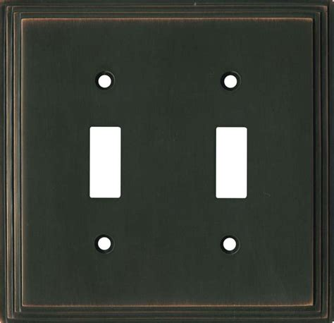 oil rubbed bronze light switch covers art deco step oil rubbed bronze switch plates image