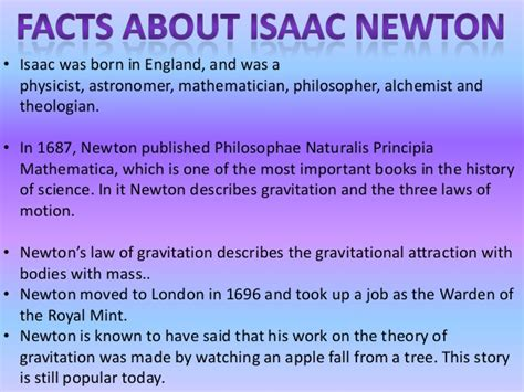 biography of isaac newton s most important facts isaac newton