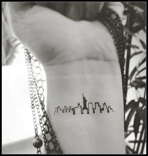 tattoo nyc skyline new york skyline tattoo temporary tattoos fake tattoos new