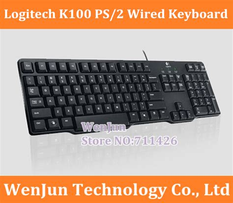 Keyboard Logitech Classic K100 2 free shipping new logitech k100 ps 2 slim classic keyboard black slim keyboard spill resistant