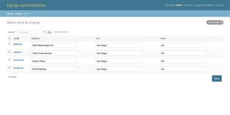 django tutorial button set up and customize django models in the django admin