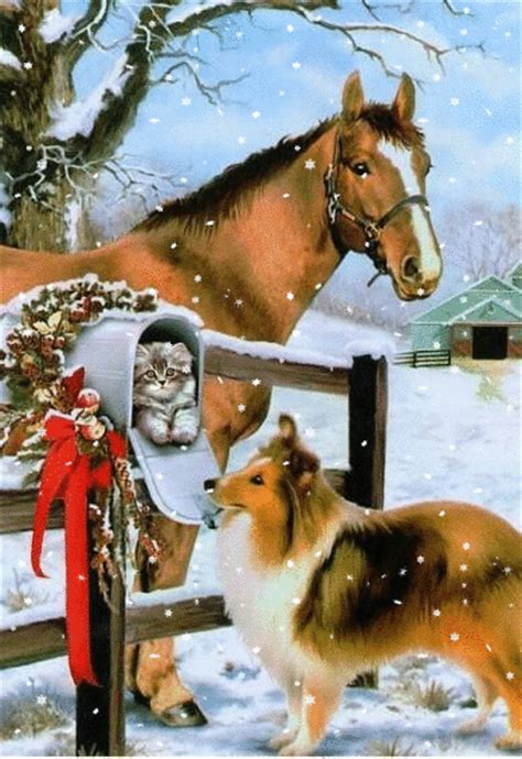 christmas animals animated 1000 images about moving snow on merry winter snow