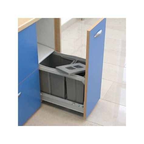 poubelle de cuisine coulissante poubelle bacs 24 5l gris fonc 233