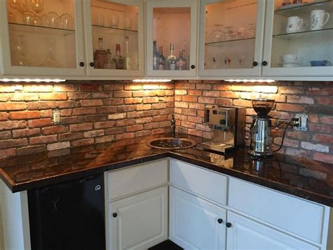 brick tile backsplash kitchen best 25 thin brick veneer ideas on brick