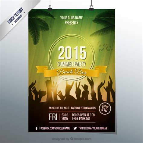 Party Poster Vectors Photos And Psd Files Free Download Event Poster Templates Free