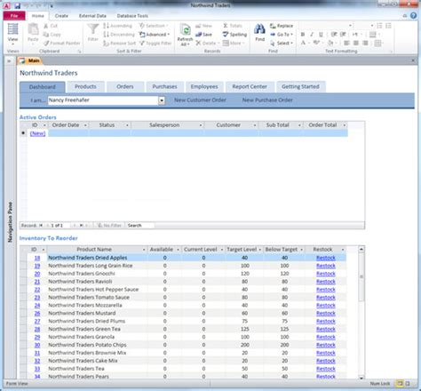 ms access 2010 database templates free download