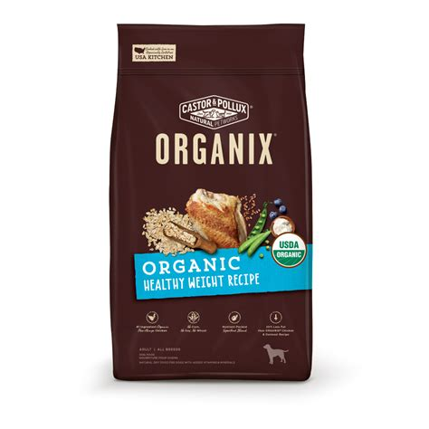 organix puppy food castor and pollux organix organic healthy weight food petflow