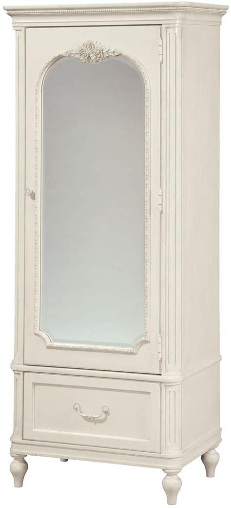 smartstuff gabriella mirrored one door armoire with cork