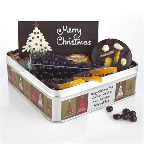 chocolate christmas gifts with a message