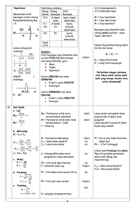 Rumus Tokcer Fisika Smp U220 kumpulan rumus fisika smp