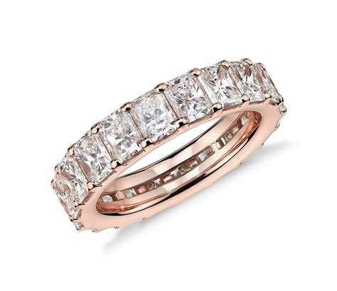 Black Sapphire 23 08 Ct 5 26 ct tw radiant cut cubic zirconia eternity ring in