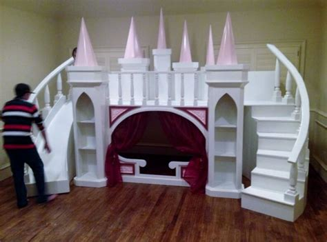 custom princess annas castle loftbunk bedindoor