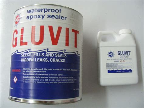 aluminum boat epoxy sealer travaco gluvit waterproof epoxy sealer 1 gallon rm331k md