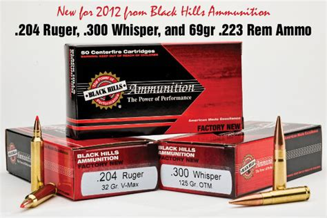 new 204 ruger 300 whisper 223 rem ammo from black