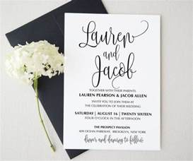 wedding announcement template best 25 wedding invitation suite ideas on