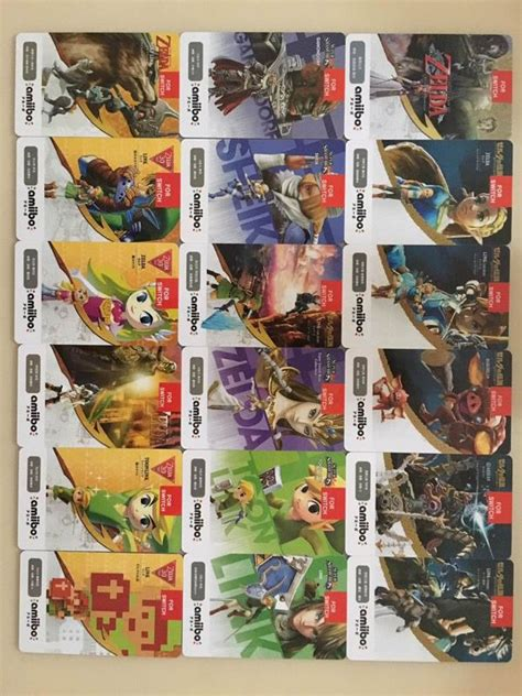 printable zelda amiibo cards 18 custom zelda amiibo nfc card tag set thick laminated