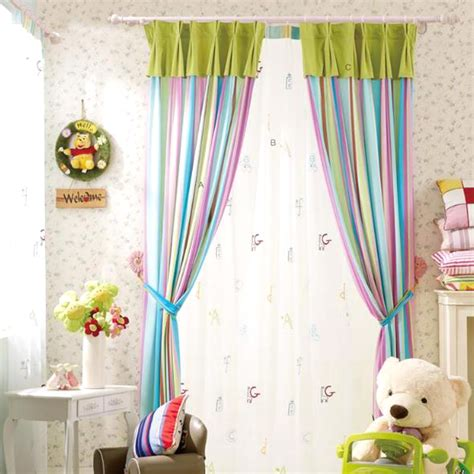 beautiful curtains colorful stripes print cotton room