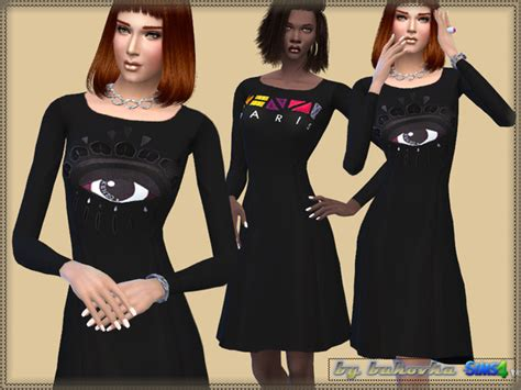 my sims 3 blog kenzo outfit for females by irida sims dress by bukovka at tsr 187 sims 4 updates