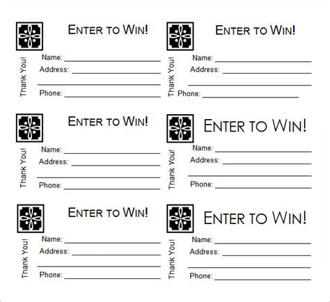 raffle cards templates sle raffle ticket template 20 pdf psd illustration