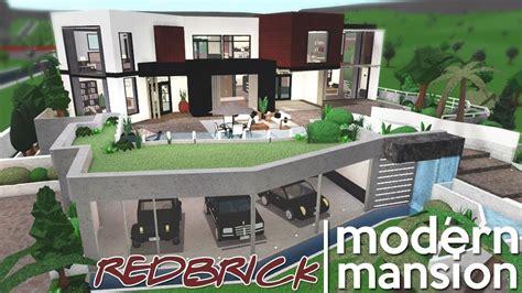 modern redbrick mansion bloxburg speed build