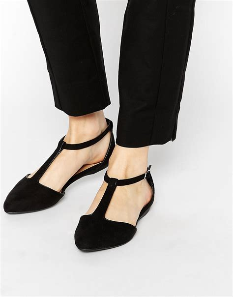 new look shoes flats new look new look josie t bar flat shoes at asos